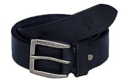 Woodland Men Leather Belt (WoodLand_BT-1037004-Black-38)