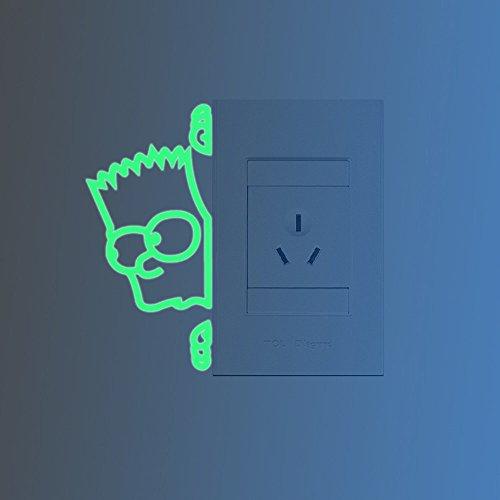 ufengke-simpson-commutateur-stickers-muraux-fluorescence-brille-dans-le-noir-salle-de-sjour-chambre-