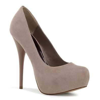 92737128b125 5 1 2 Inch Stiletto Heel Hidden Platform Pumps Women s Suede Shoes Size  8