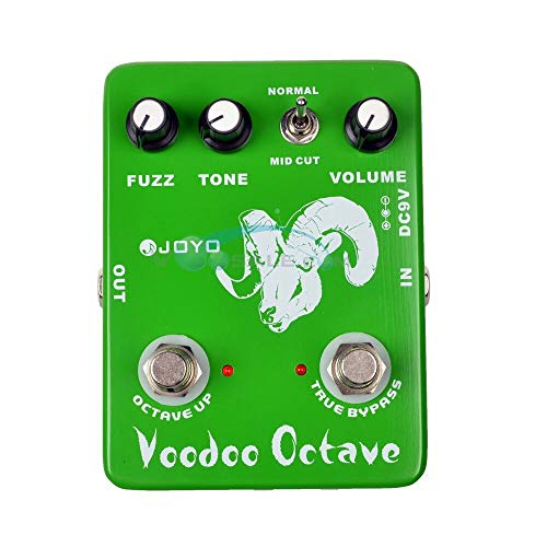 JF-12 Voodoo Octave Effekt-Gitarren-Pedal, Stompbox Bass Fuzz Vintage Ture Bypass, Mini-Gitarreneffekt, Zubehörteile