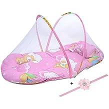 Tonsee–Lote de bebé cama cojín de mosquitos Portátil Plegable colchón cuna niño