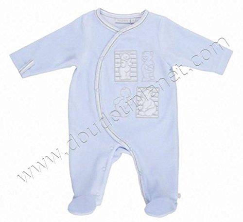 Noukies - Pyjama Velours Bleu Nouky 20x 24xcm