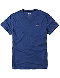 Hollister New Blue V Neck Icon T-Shirt Tee Top Boys Shirt Men SZ: Medium/M