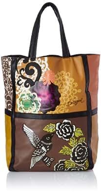 Desigual Bols Cut Bag Tricolor 2, Sac porté main - Vert (6049), Taille Unique