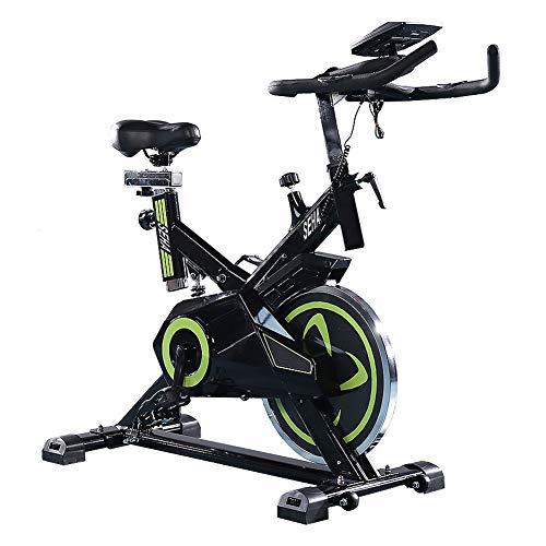 MMSZ Fahrradtrainer Heimtrainer für Zuhause, Pulsmessung Elliptisches Training Flüsterleisem Riemenantrieb Mehrere Widerstandsstufen für Maximale Tragfähigkeit 150 kg