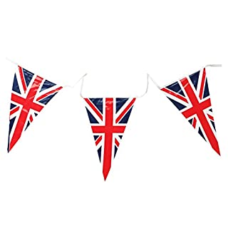HENBRANDT Union Jack Triangular Bunting 25 Pendant Flags @ 7m long