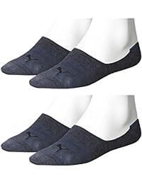 PUMA Unisex Invisible Footie Sport Socken Sportsocken 4er Pack