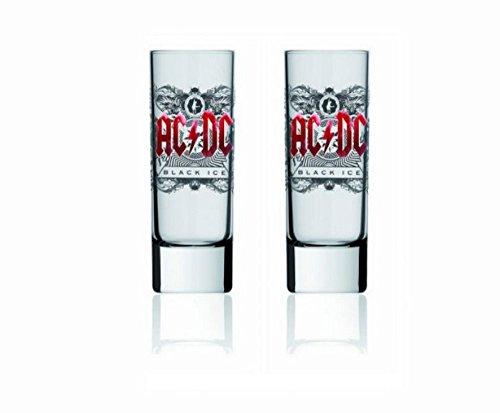 AC DC-bicchieri da Shot Set di 2-Black Ice Logo