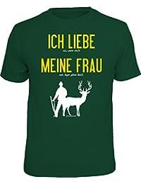 Original RAHMENLOS® T-Shirt für den Jäger: Ich liebe es, wenn mich meine Frau…