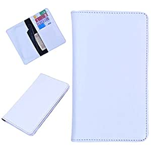 DSR Pu Leather case cover for Lava iris 355 (white)