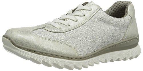 Rieker Damen M6228 Sneakers, Weiß (Ice/Weiss-Silber / 80), 36 EU