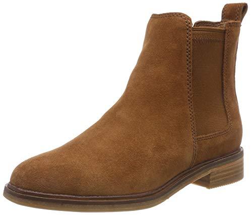 Clarks Damen Clarkdale Arlo Chelsea Boots, Braun (Dark Tan Suede), 38 EU