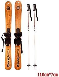 ALUK- Solides hommes et des femmes Costume Bois skis peuvent être utilisés Skateboard (y compris la bataille de neige)