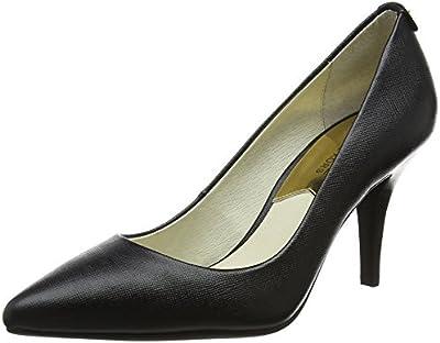 Michael Kors Black, Zapatos de tacón con Punta Cerrada para Mujer, Negro (Maki-Flex Mid Pump 40t2mfmp2l), 38 EU