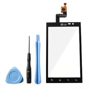 JZK Noir Ecran Vitre Externe Glass Digitizer Pour LG Optimus 3D P920 + Outil Kit