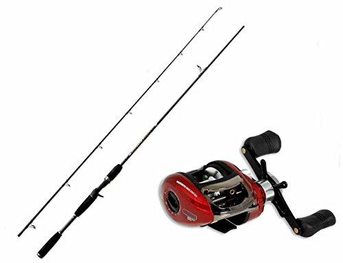 EVO FISHING Kit Casting Canne Baitcasting Pro 198cm + Moulinet m-Casting Pro 201