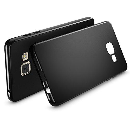 Samsung Galaxy A5 2016 Hülle Handyhülle von NICA, Ultra-Slim Silikon Case, Dünne Crystal Schutzhülle, Etui Handy-Tasche Back-Cover Bumper, TPU Gummihülle für Samsung-A5 16 Phone - Matt Schwarz Matt Schwarz