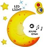beruhigendes Nachtlicht mit Sound & Musik - Mond & Sterne