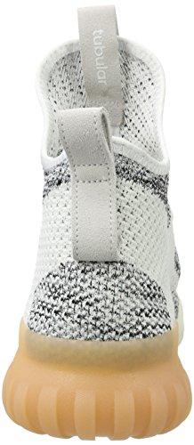 adidas Tubular X Primeknit, Pantofole a Stivaletto Uomo Bianco (Crystal White/grey One/core Black)