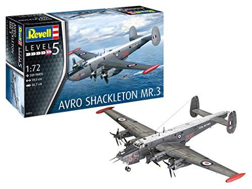 Revell 03873 Avro Shackleton MR.3 originalgetreuer Modellbausatz für Experten, 1:72/39 cm (Modell Flugzeug Kit Paint)