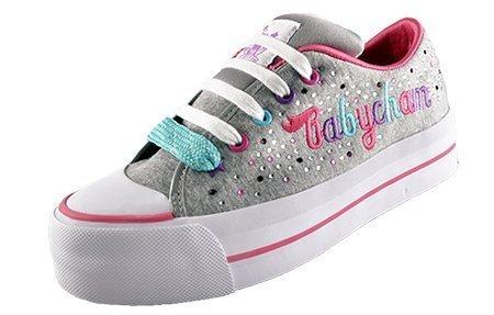 Pour Femme De Créateur Paltes Baskets Babycham Marina Diamant Multicolore Chaussures Gris Marne