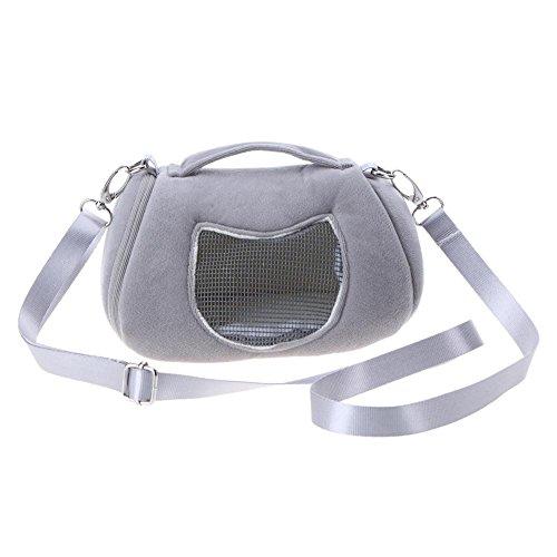 Demiawaking Tragbare Schultertragetasche für Haustiere, Hamster, Ratte, Igel, Chinchilla, Frettchen, Tragetasche für Kleintiere (Tasche Hamster)
