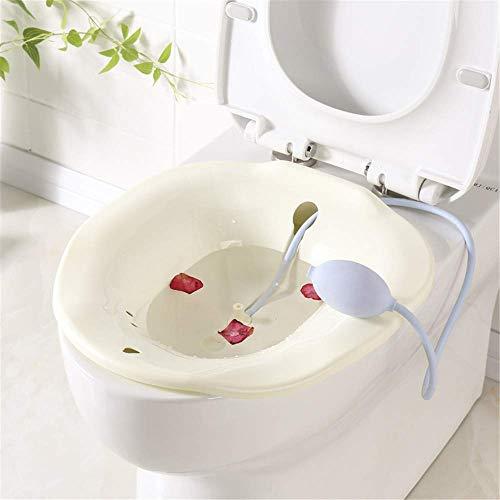 Sitzbadewannen für die meisten Standard- und länglichen Toilettenkommoden Sitzbadewannen für schwangere Frauen mit Hämorrhoiden in medizinischer Qualität auf der Toilette,White