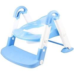 Réducteur de Toilette Pliable,Rameng Siège de Toilette pour Enfants WC Voyage (bleu)