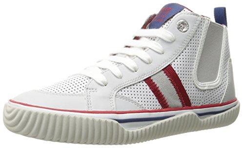 Geox , Jungen Sneaker Weiß weiß 36 Bianco (White/Red (C0085))