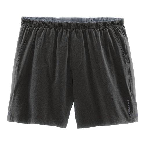 Brooks Herren Laufshort Laufhose kurz Sporthose Sherpa 7'' Short Grau - 210826-038 (L) (Brooks Spandex Shorts)