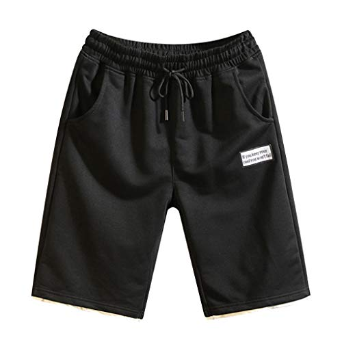 ure Color Spleißen Baumwolle Multi-Pocket Shorts Nähen Neu Strandhosen Overalls,Weiß,EU:XL(Tag:3XL) ()