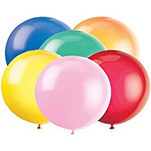 Unique Party - Globos Gigantes de Látex para Fiestas, 6 unidades, 90 cm (56732.0)