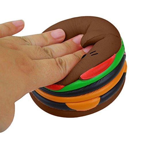 DAY8 jouets bebe fille educatif hamburger Squishy Slow Rising Toys jouets bebe garçon Squeeze Jouet de Décompression Stress Relief Toy cadeau garcon Créatif Anti-stress Jouets enfants pas cher (café)