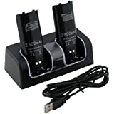Dual Twin Charger Dock for Nintendo Wii Remote Controller (Pack of 2 Batteries), [Importado de Reino Unido]