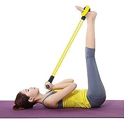 daorier Universal Home Fitness Pull Rope Entrenamiento Abdominal Pedal de expansión elástica Pull Rope pierna brazo cintura abdomen barriga estiramiento Yoga de adelgazamiento abdominales