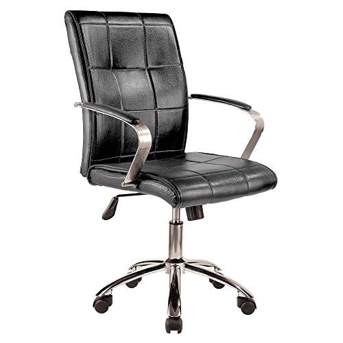 Wellindal schwarz Bürostuhl Kolonialmodell - Jugend-schreibtisch Stuhl