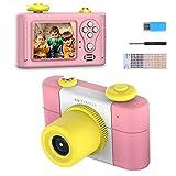 Digitalkamera für Kinder, HD 1080P 1,5-Zoll-Bildschirm Kinderkamera mit wiederaufladbarem Fotorahmen-Mikrofon für Kinder-Videokamera(Pink)