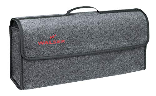 Walser 30304 Kofferraumtasche Toolbag mit Klettband 21.3 x 16 x 57 cm, Grau, Größe  XXL - Hintere Vitrine
