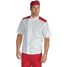 Isacco-Chaqueta De Cocinero, Málaga, Color Blanco, 100% algodón, ...