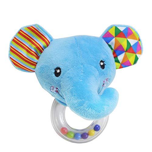 Linlintoy Interaktives Kinderspielzeug Tierkinderwagen-Spielwaren, 4 Art-Säuglingsbaby-Kinderwind-Bell-Ton-Spielwaren for Kinder Lernspielzeug (Farbe : C, Größe : Picture Size) -