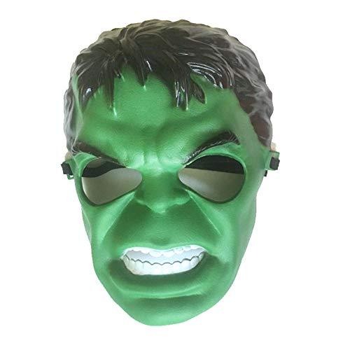 ZX Maske Avengers Haken Hulk Halloween Show Bar Nachtclub Terroristen Requisiten,Grün,MJ