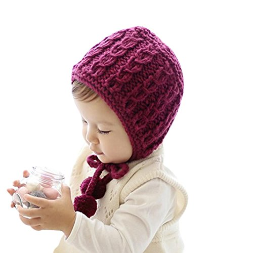 Baby Hats, Dorame Kids Girl Knitted Crochet Beanie Winter Cap Warm Hat