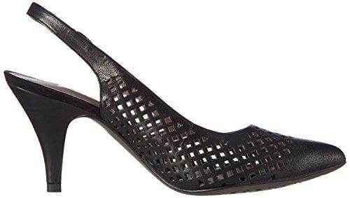 Tamaris - 29603, Scarpe col tacco con cinturino a T Donna Nero (Nero (Black 001))