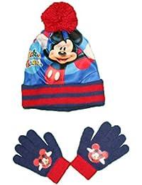 Mickey Mouse - Set de Bufanda, Gorro y Guantes - para niño