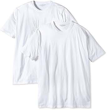 CASAMODA Herren T-Shirt 2 er Pack Comfort Fit 092180/0, Gr. 37/38 (S), Weiß (0 weiß)