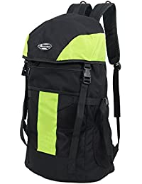 POLE STAR TREK 44 Lt Black & Green Rucksack/ Travel / Weekend backpack bag