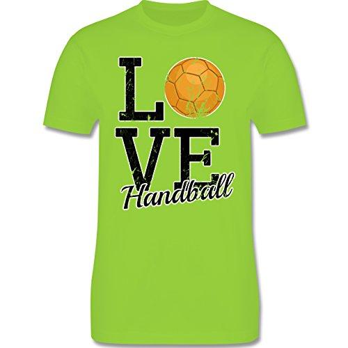 Handball - Love Handball - Herren Premium T-Shirt Hellgrün