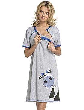 HAPPY MAMA Donna Prémaman carina camicia da notte gravidanza allattamento. 219p