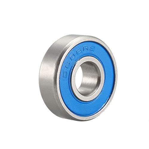 ZCHXD S608-2RS Stainless Steel Ball Bearing 8x22x7mm Double Sealed 608RS Bearings -