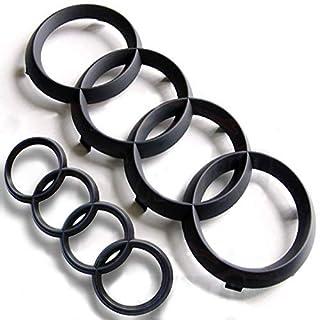 Schwarze Ring-Embleme für Vorder- und Hintergitter, matt schwarz